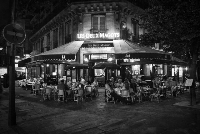 Lex Deux Magots Cafe in Paris