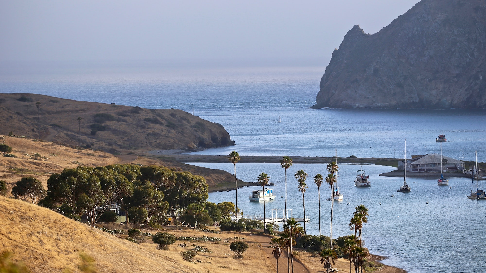 Two Harbors, on the northwest side of Catalina, is the quieter of the island's two towns.