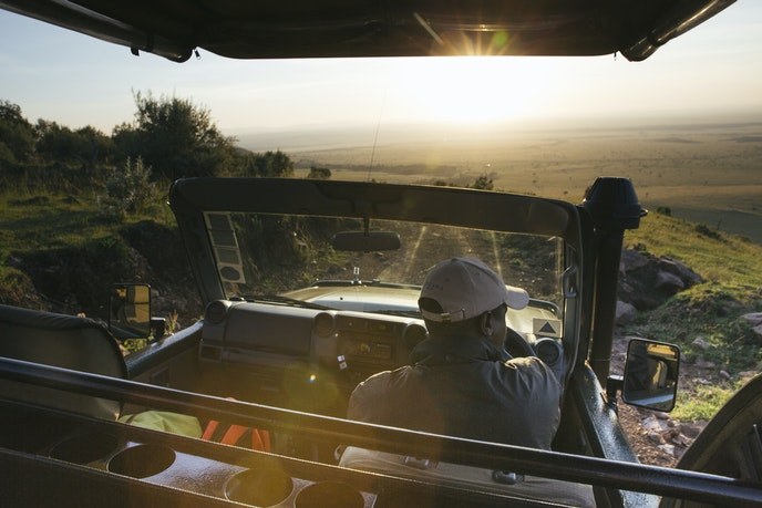 Masai guides lead intimate safaris at Angama Mara in Kenya.