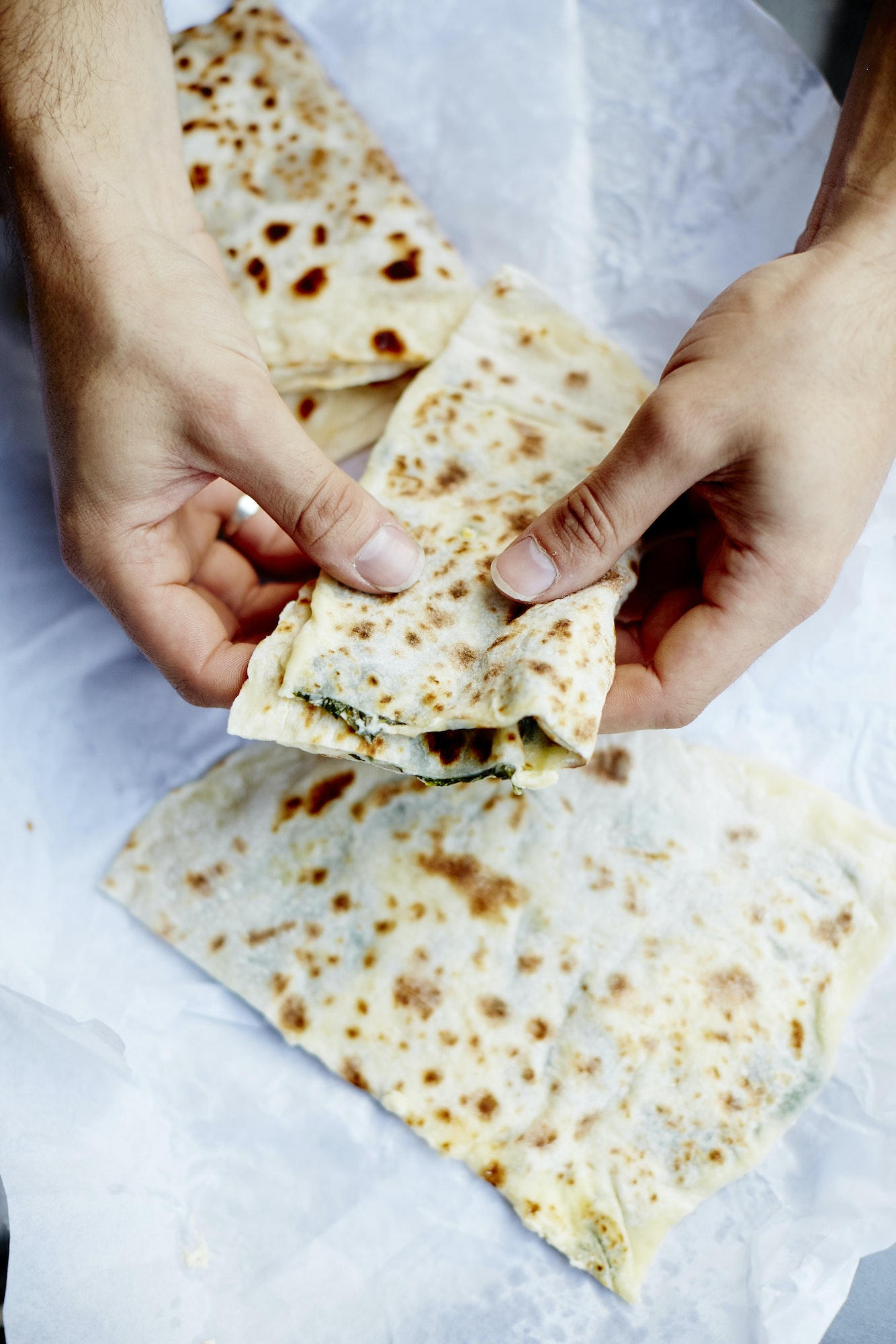 A trip through Melbourne's dining scene turns up a spinach and cheese Turkish gözleme.