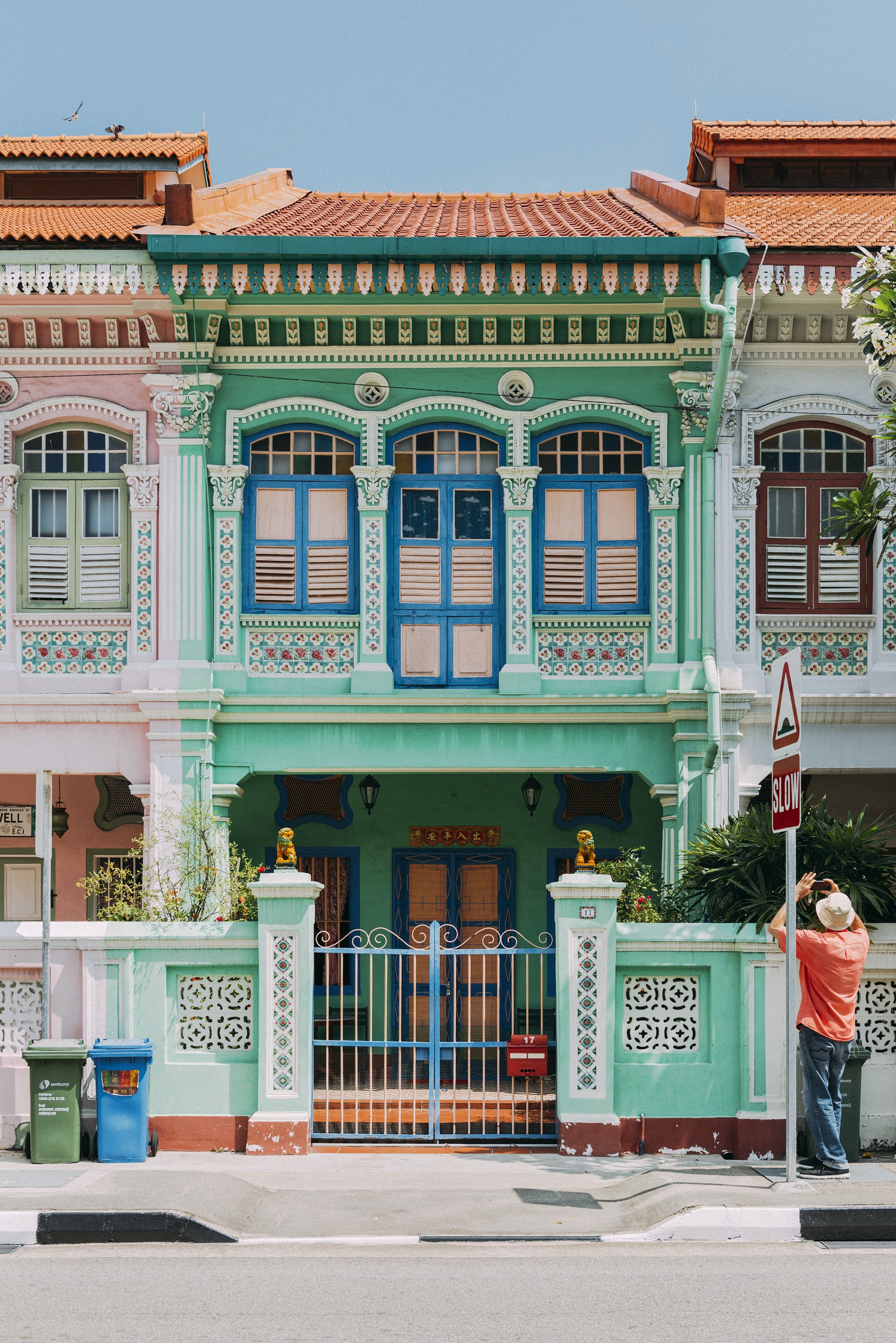 Peranakan-style row houses in Singapore.