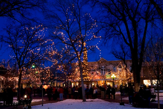 Winter in New Mexico means snow and, in Santa Fe, lots of lights.