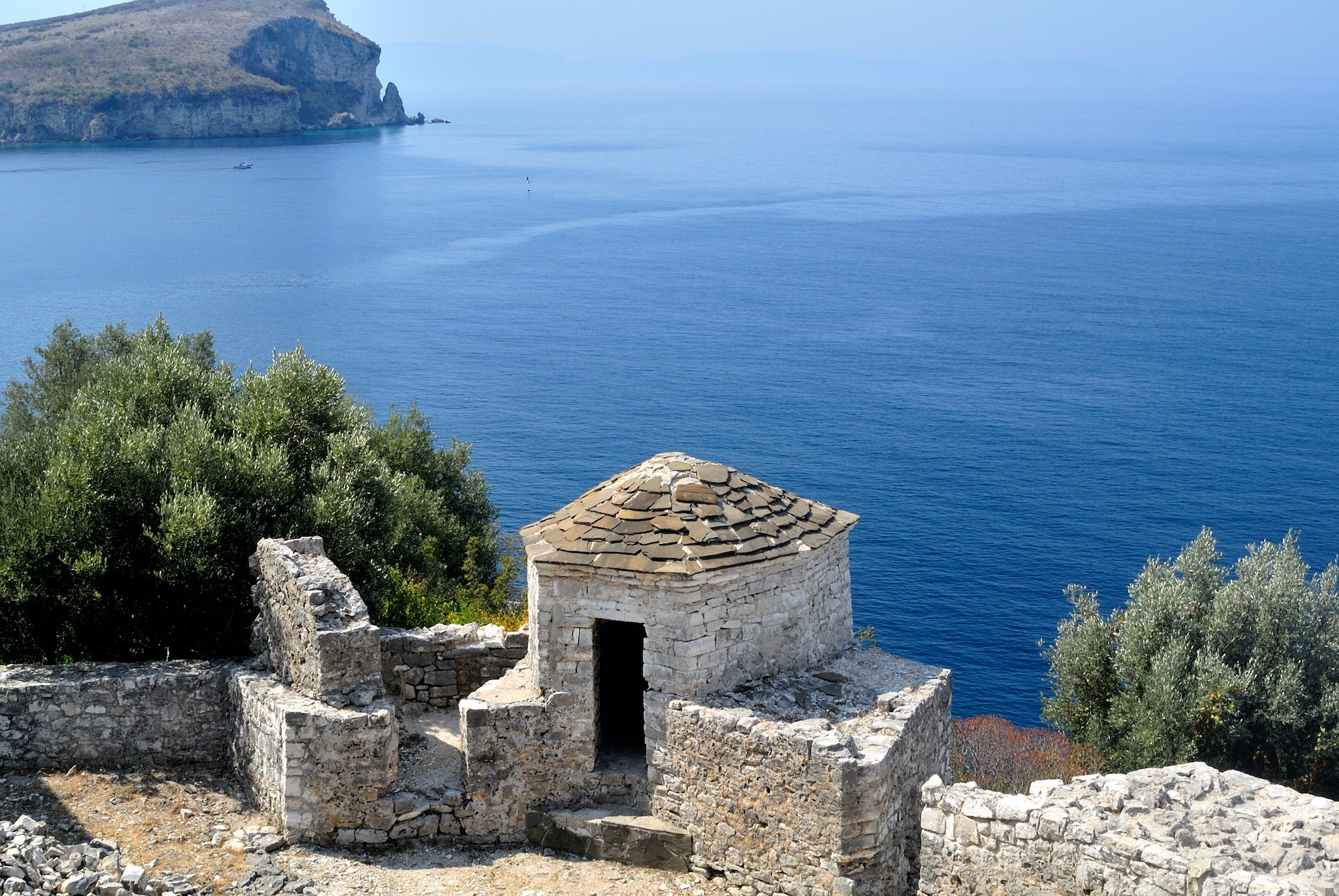 Porto Palermo Castle sits on a cliffside above the Albanian Riviera.
