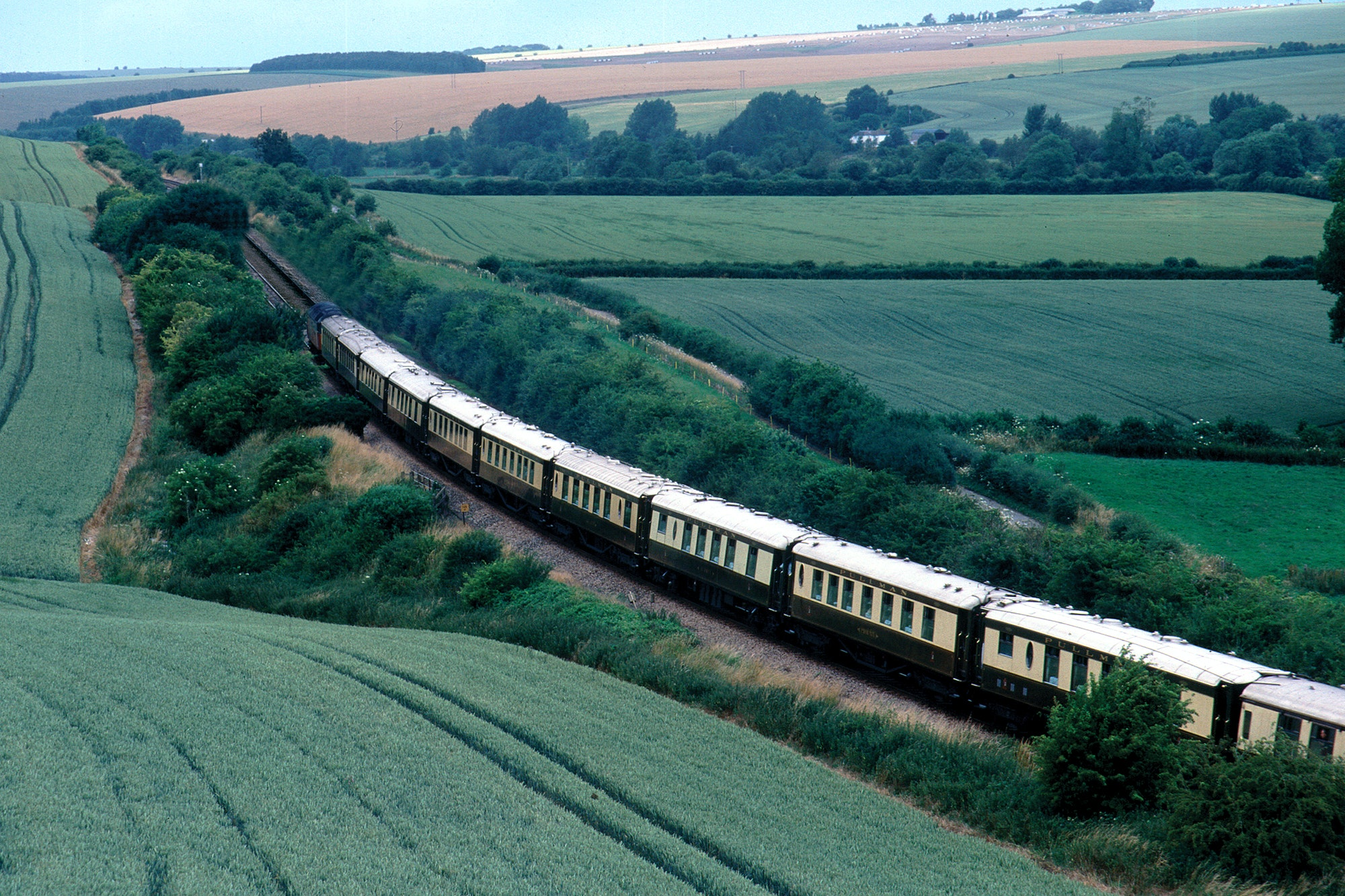 The 1920s-era Belmond British Pullman travels throughout the English countryside this spring.