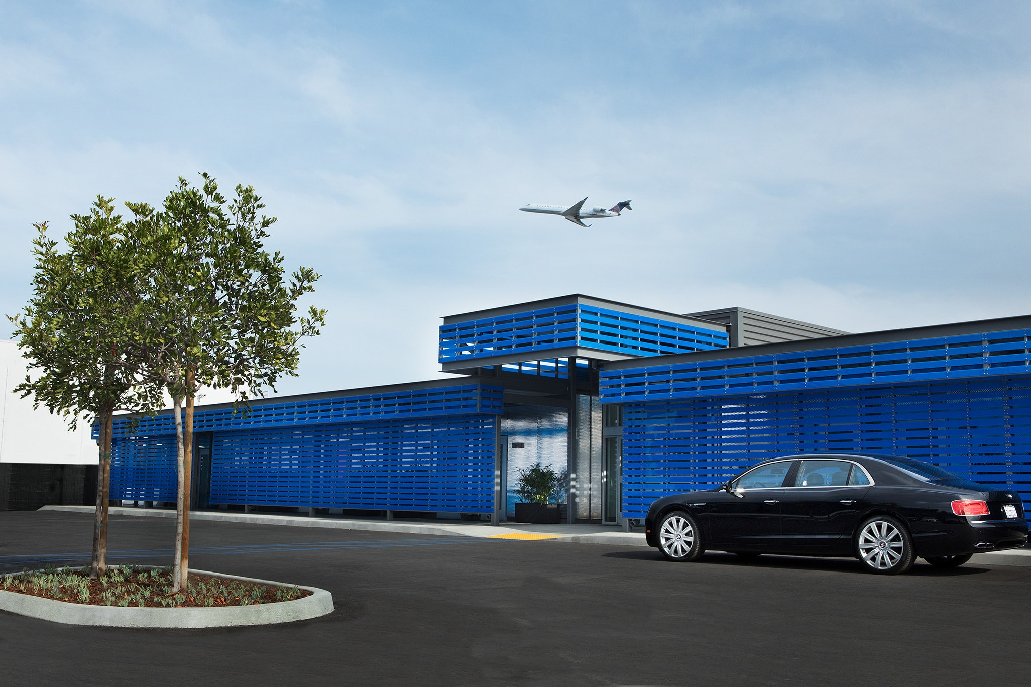 The Private Suite's $22 million facility sits on the far side of the LAX airfield.