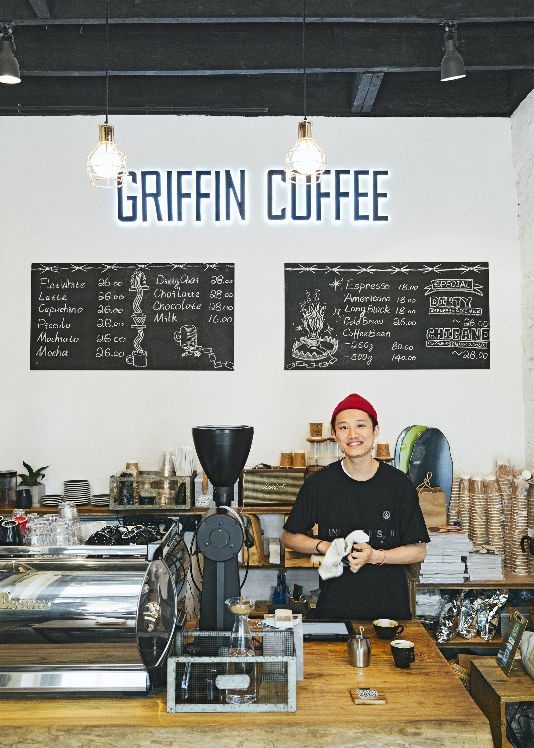 At Griffin Coffee in Jing'an, Zheng recommends the Caffè Americano.