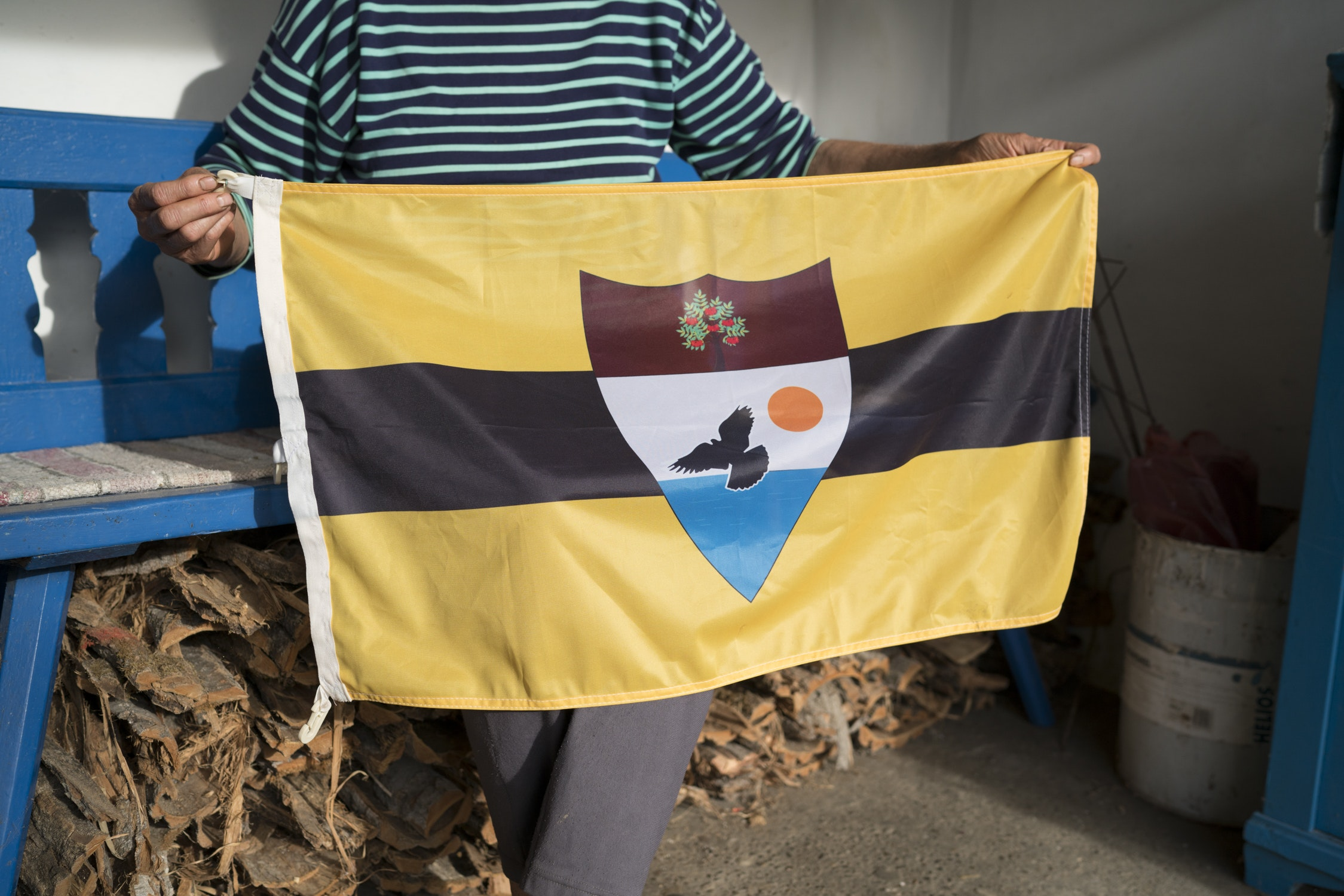 The flag of Liberland, a contested patch of no-man's-land between Serbia and Croatia