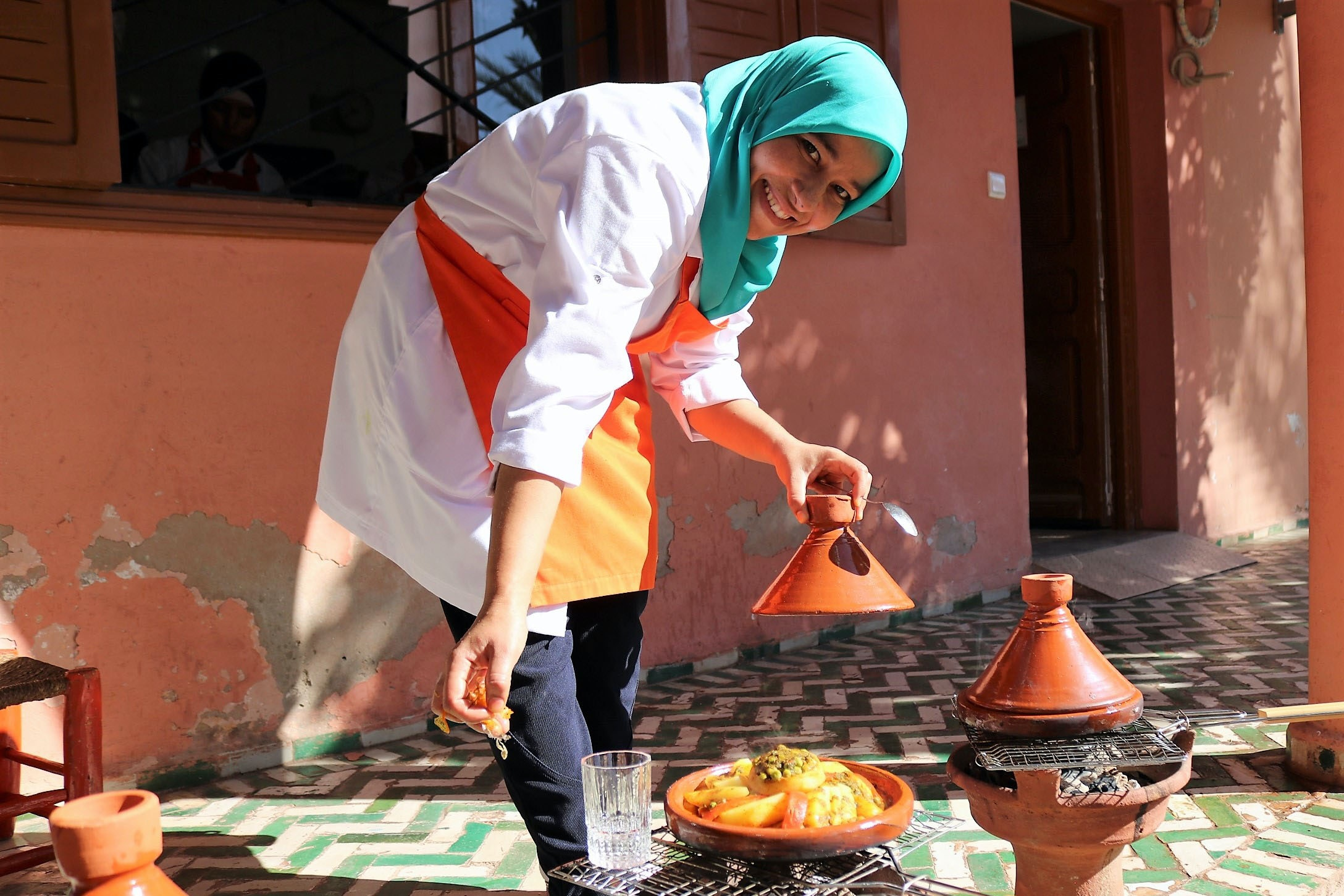 At Amal, women learn job skills and teach visitors how to make a variety of traditional Moroccan dishes.