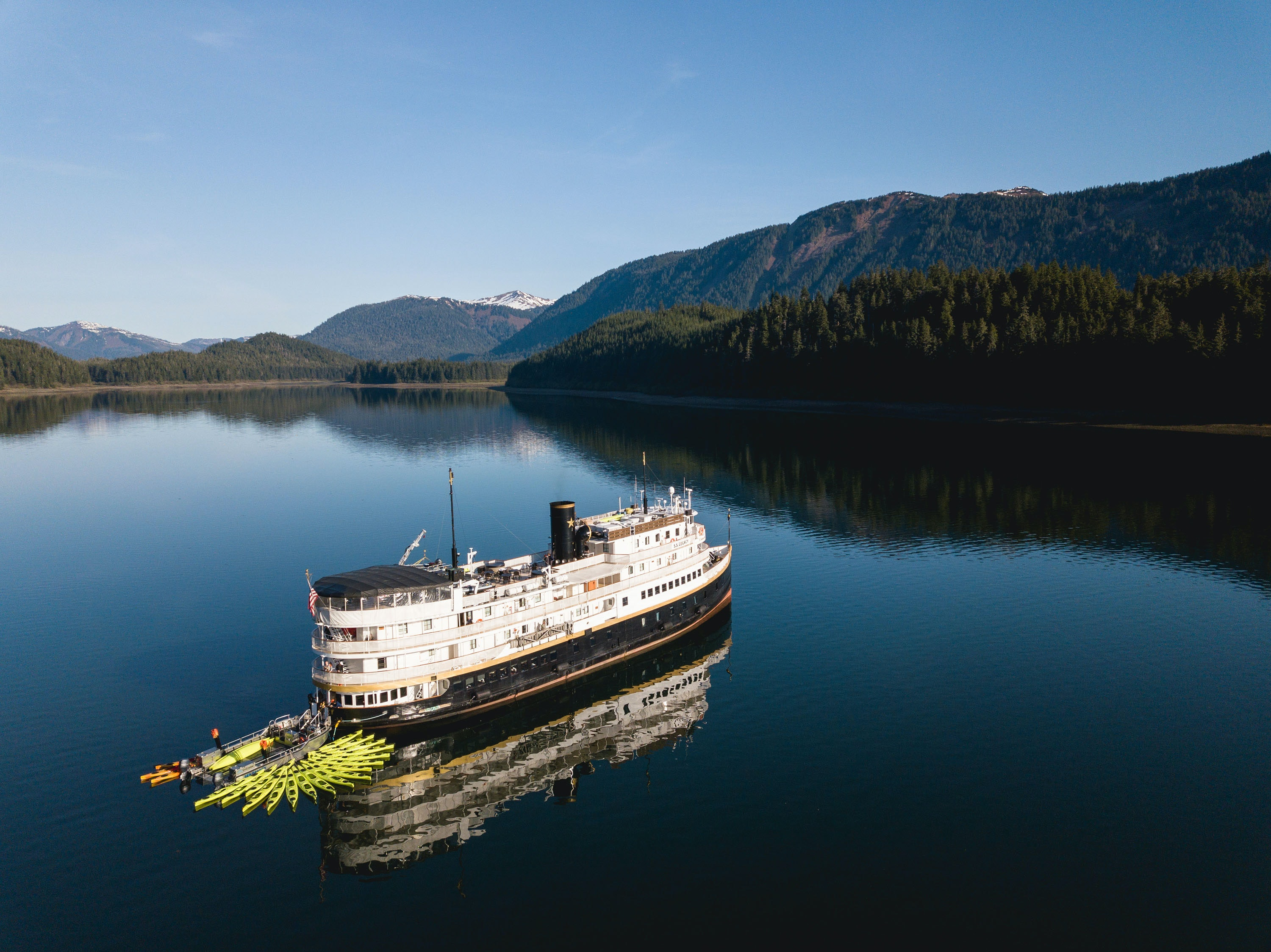 Other than a day-stop in Glacier Bay, the SS Legacy makes port calls based on weather, wildlife, and whims.