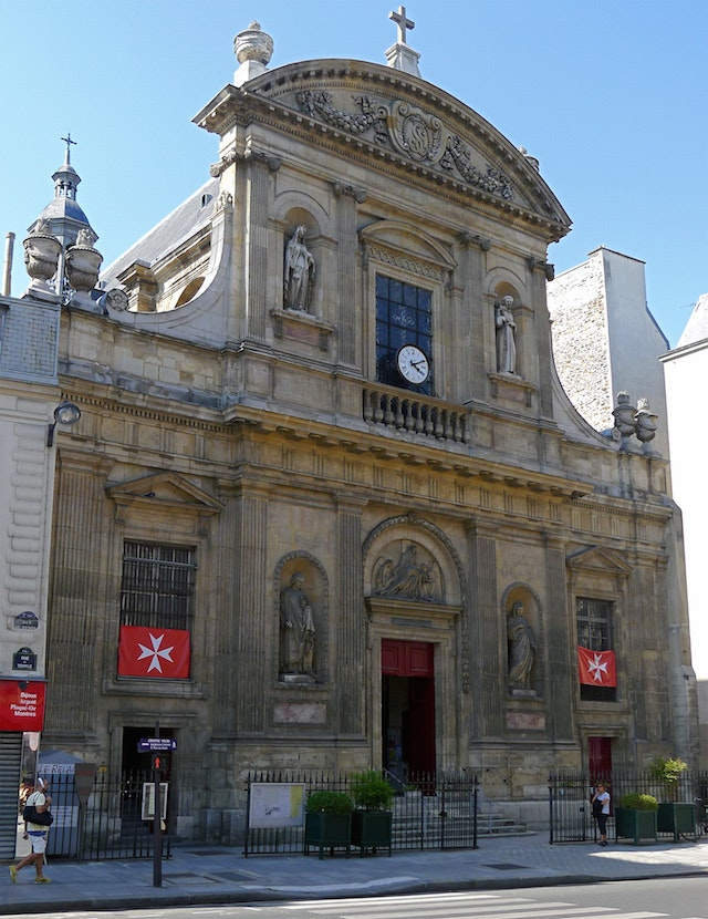 St. Elisabeth de Hongerie Church, located next to Hotel Paris France