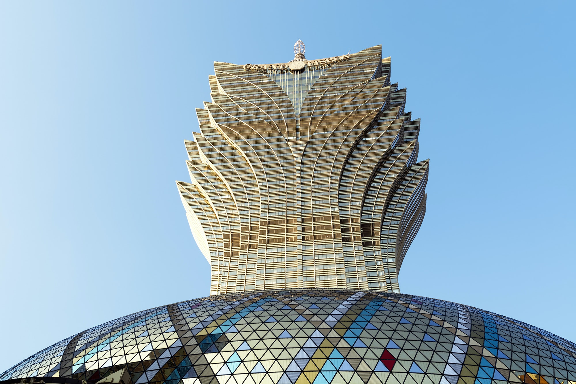 Robuchon au Dôme is located at the top of the Grand Lisboa hotel in Macau.