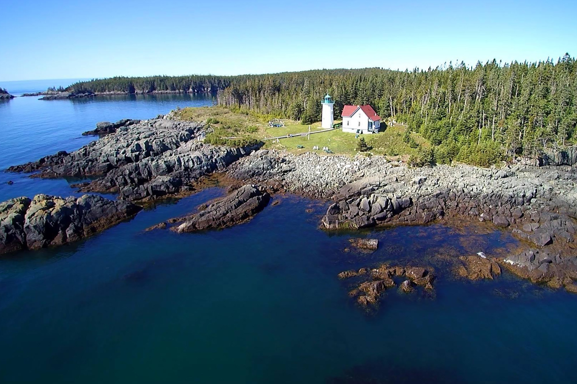 The remote Little River Lighthouse sits on a 15-acre island off the coast of Maine.