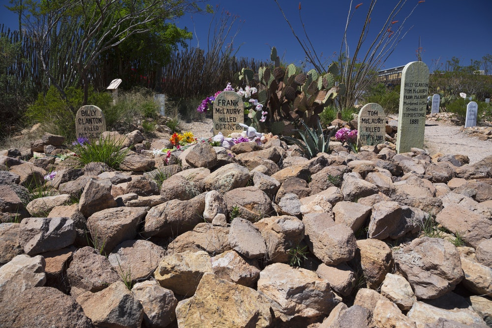 Get a taste of the Wild West at Boot Hill Graveyard in Tombstone.