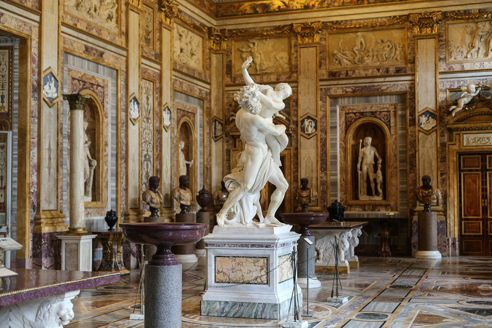 Enjoy Picassos and Berninis at the same time at the Galleria Borghese.