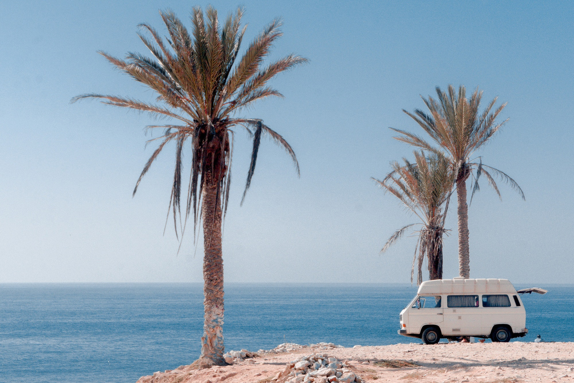 California offers plenty of beachside camp spots perfect for parking and relaxing for a while.
