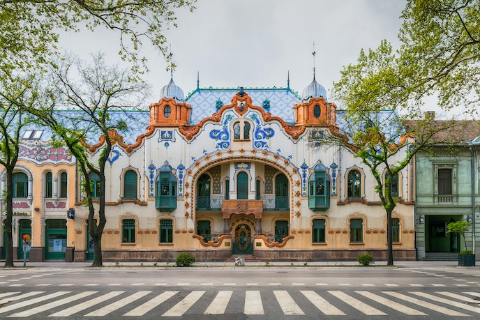 The Raichle Palace in Subotica, Serbia, is a lavish example of art nouveau architecture.