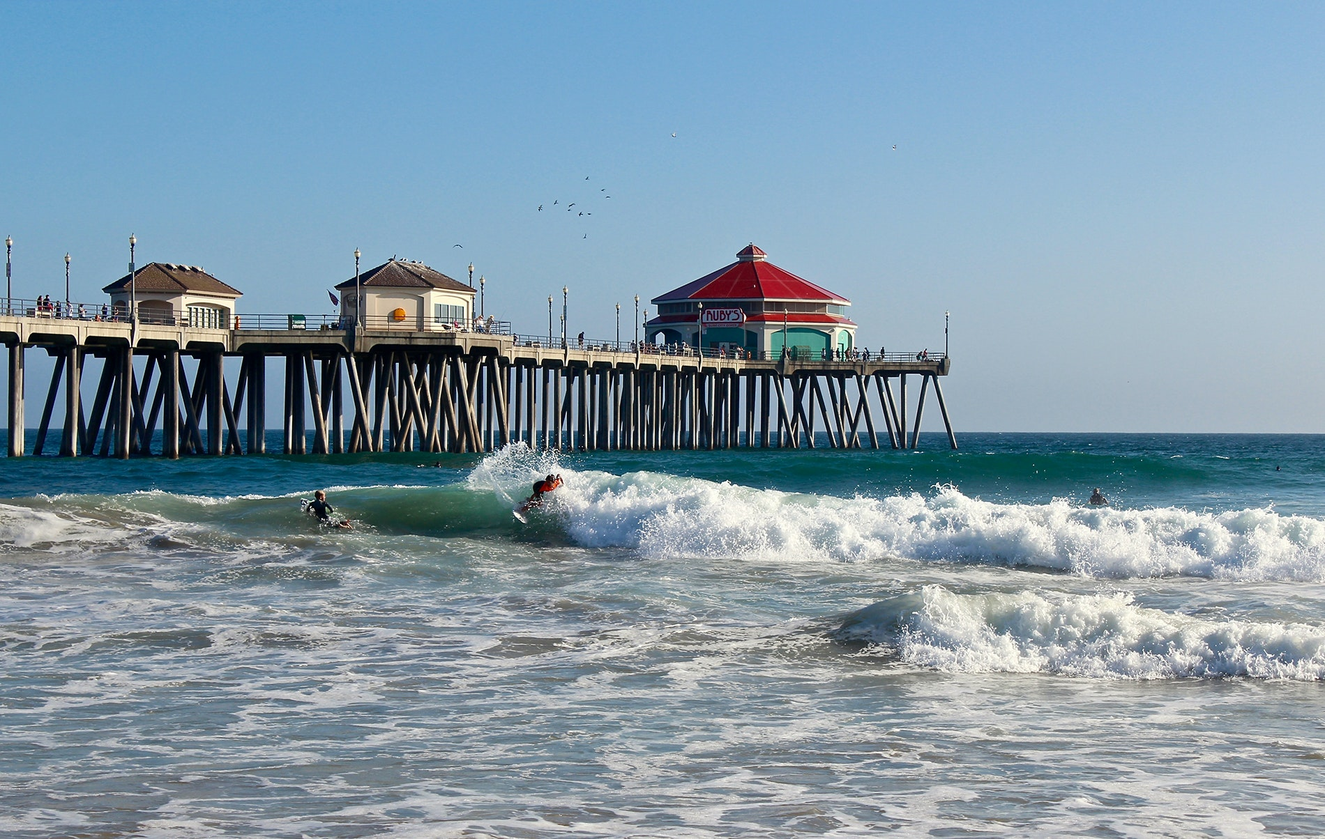 The city of Huntington Beach has five beaches to choose from.