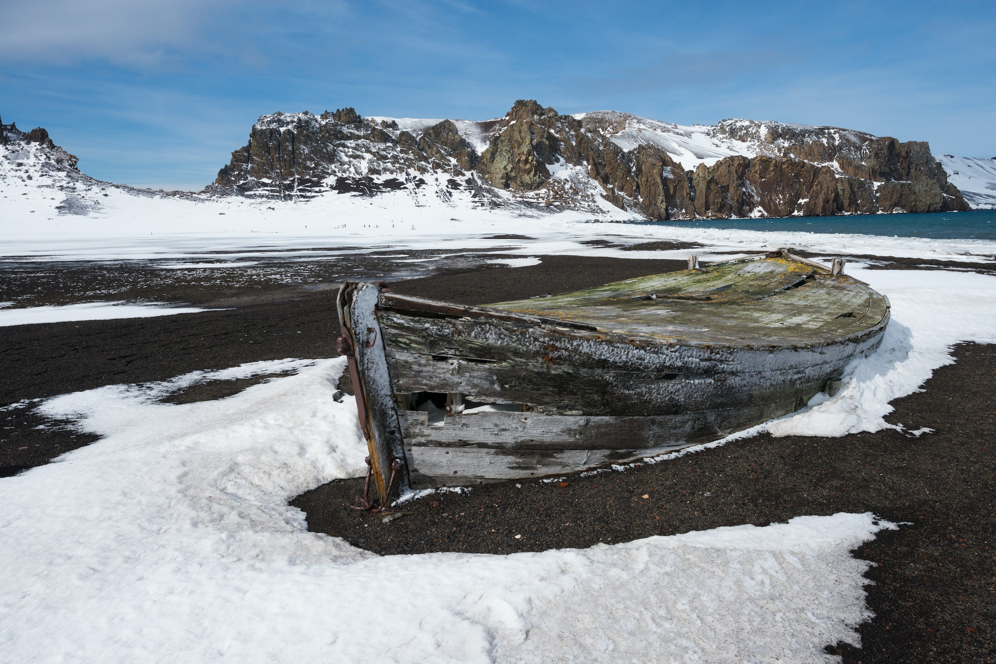 Before it was abandoned, Deception Island served as a whaling base and scientific research center.