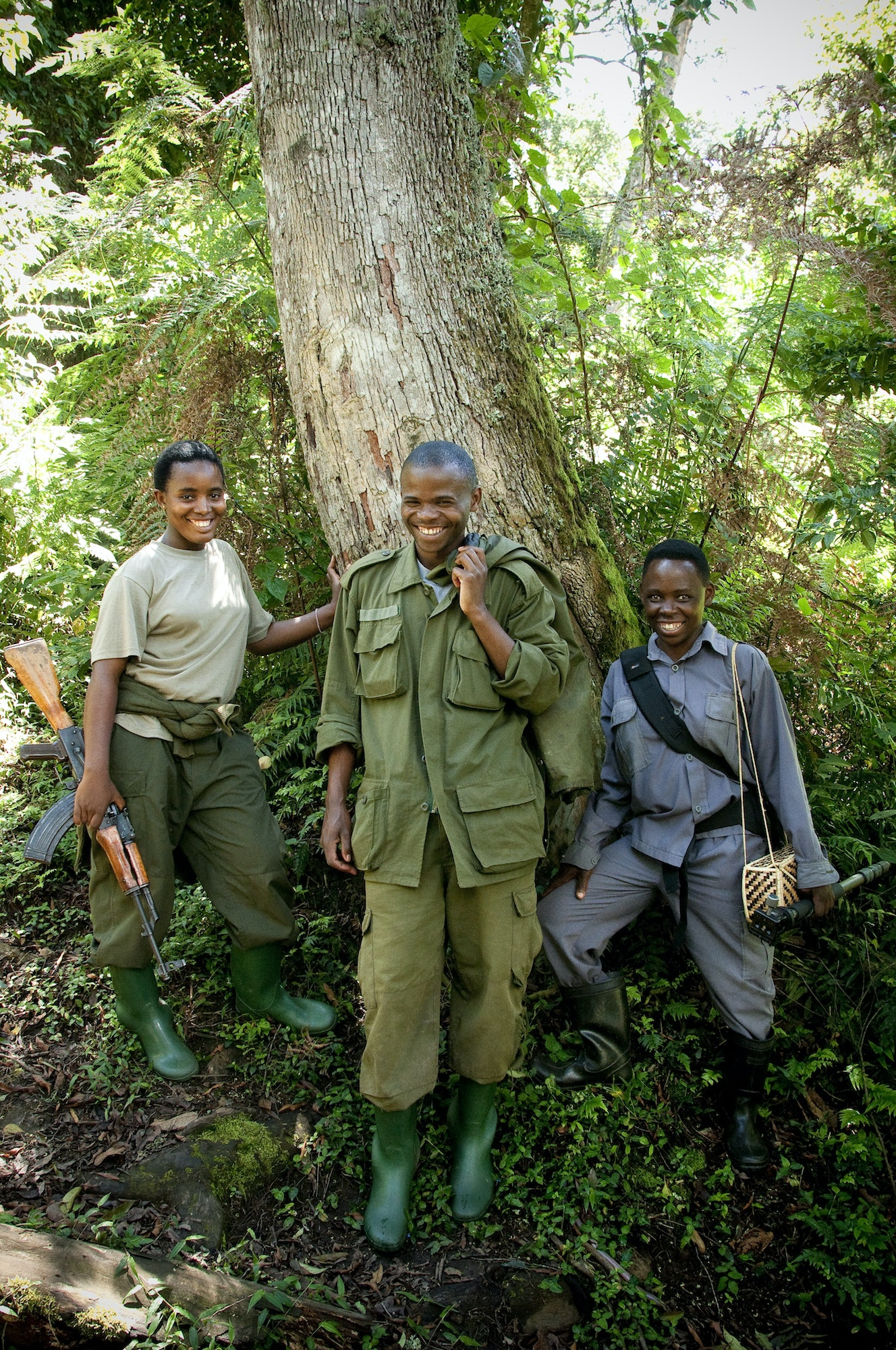 Uganda Wildlife Authority guides lead visitors through the Ruhija section of Bwindi Impenetrable National Park.