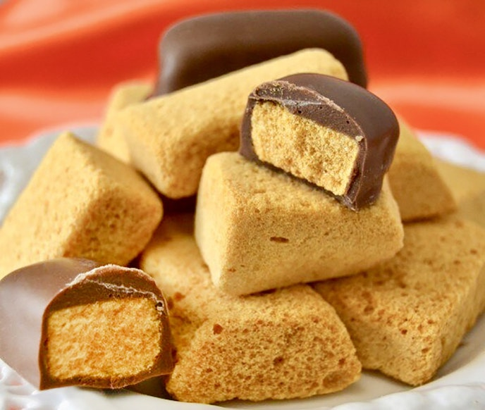 Despite its name, sponge candy is actually light and crunchy.