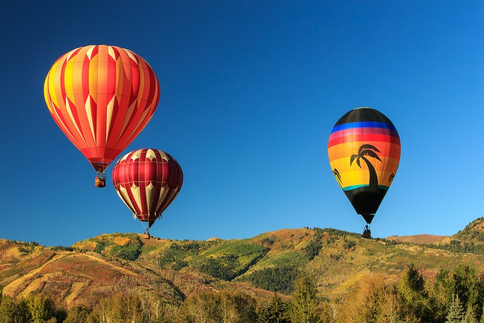 Park City lies east of Salt Lake City and is framed by mountains from the Wasatch Range.
