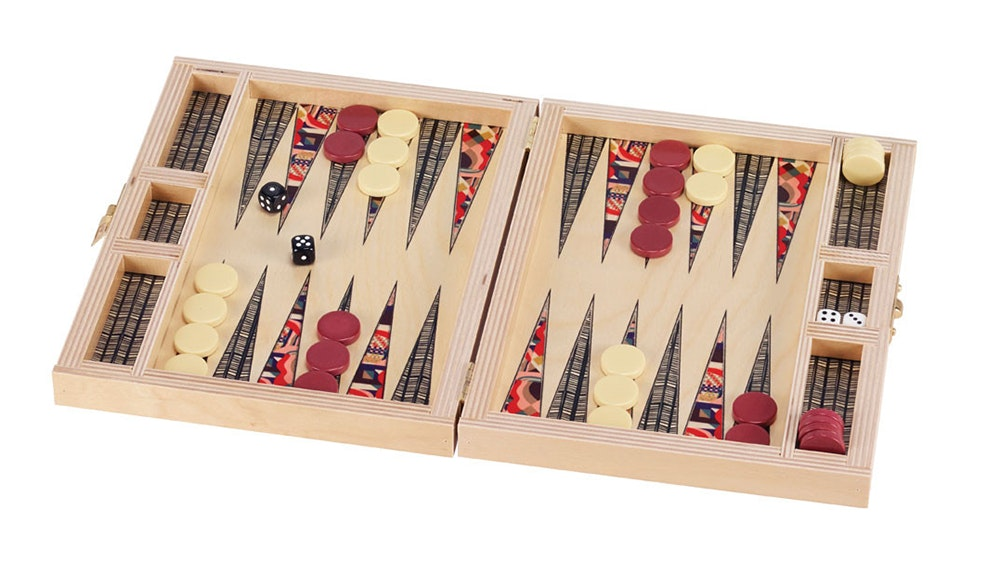 The Paloma Travel Backgammon Set from SFMoMA