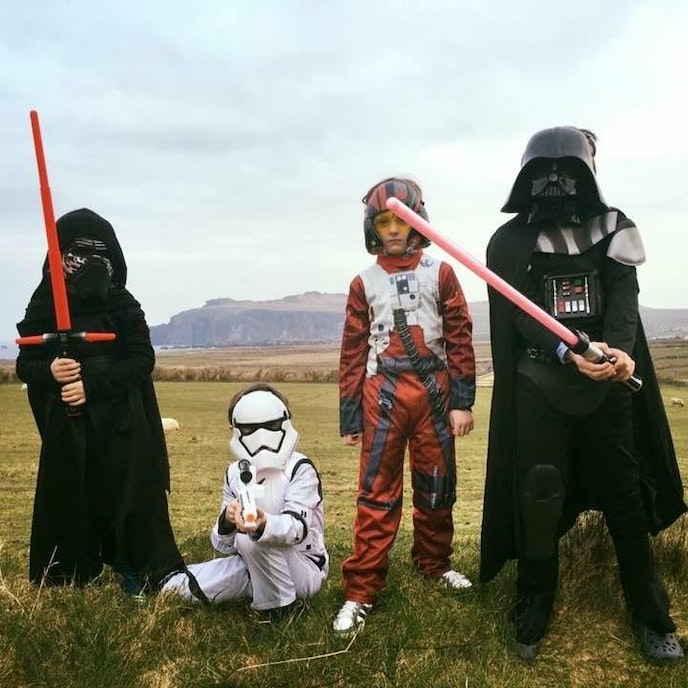 Kids, costumes, and costumed kids are welcome at Ireland's May the Fourth festival.