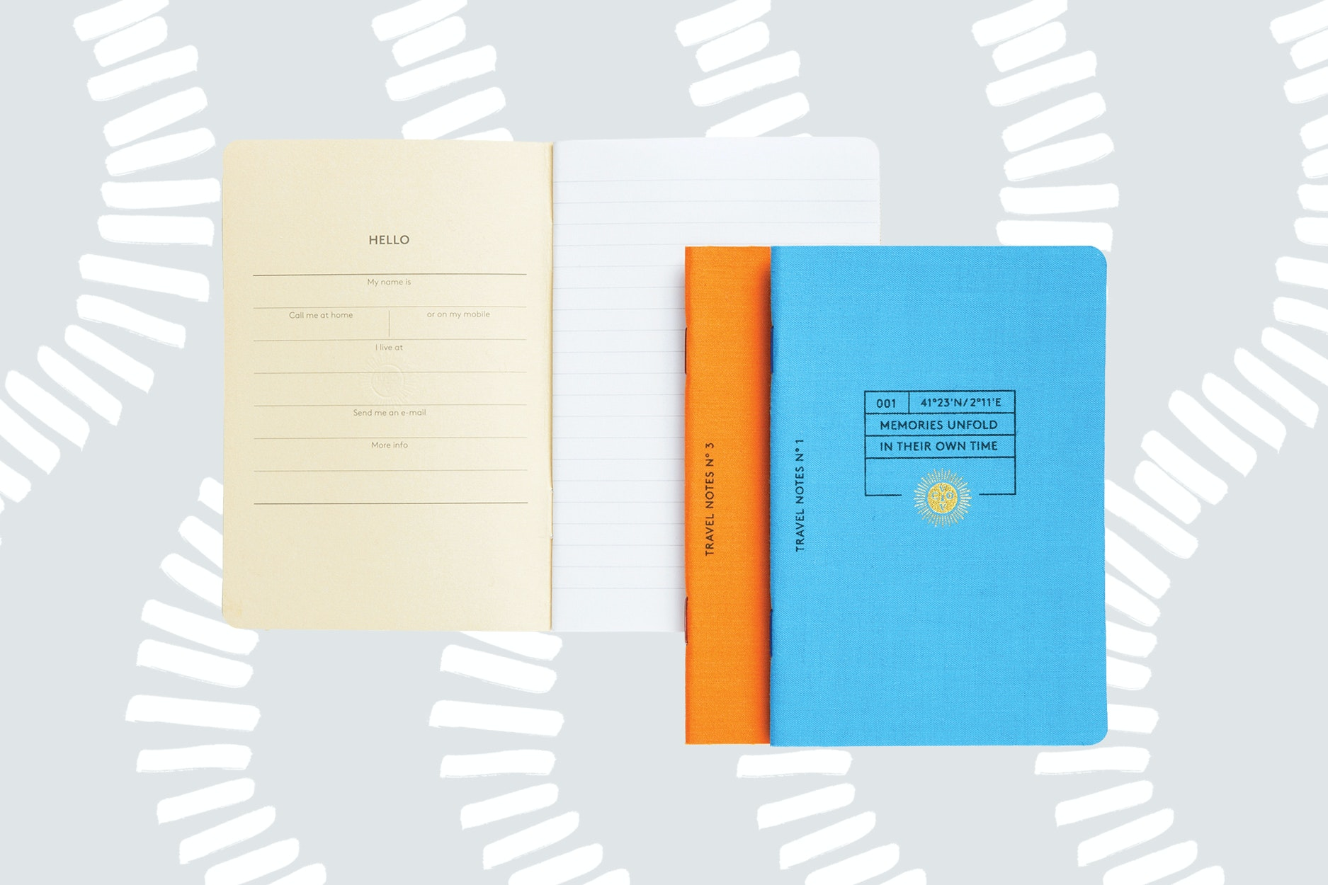 Record your travels in a notebook the size of your passport.