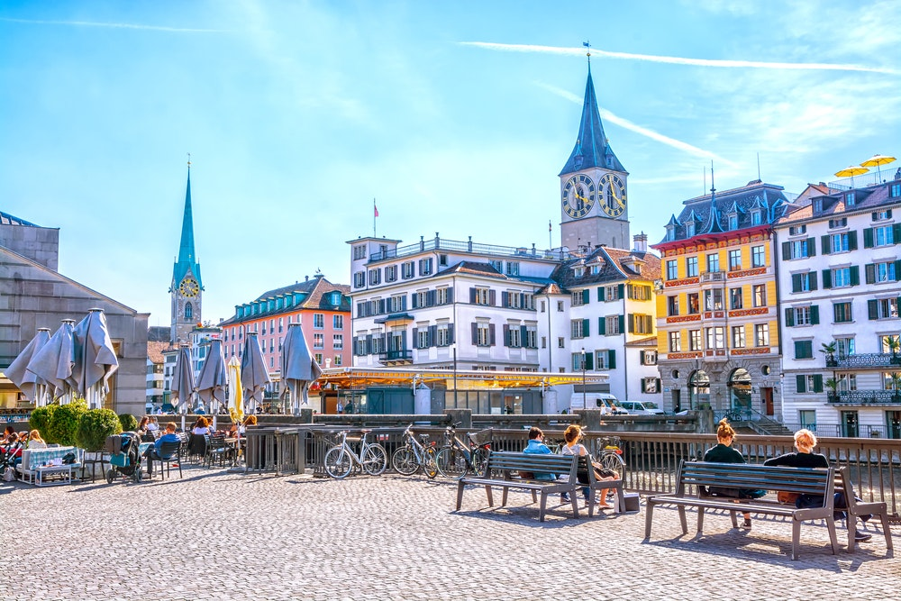 Start your trip in Zürich to enjoy the city before heading through the Alps.