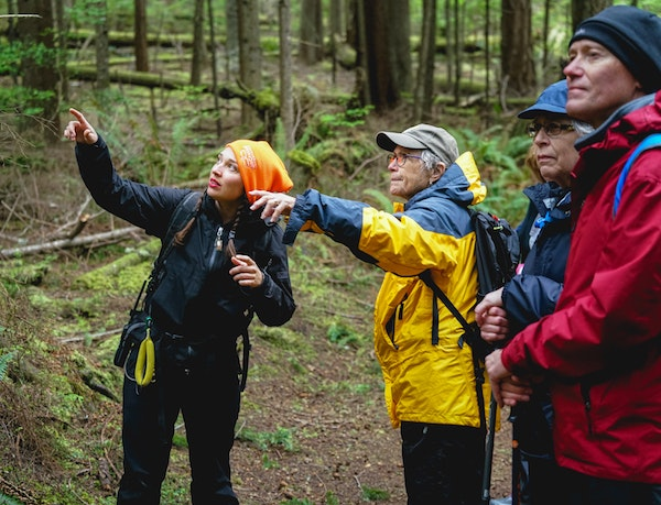 On guided hikes in Alaska, Hannah weaves together information to explain how the ecosystem hums along.