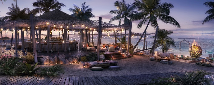 All the cruises will stop at a private beach club in Bimini, Bahamas.