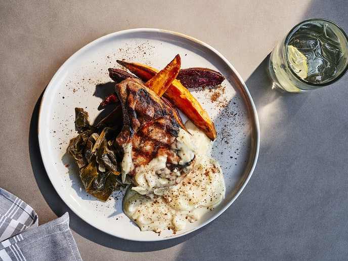 Benne on Eagle, located in Asheville, draws from the area's African American culinary tradition.