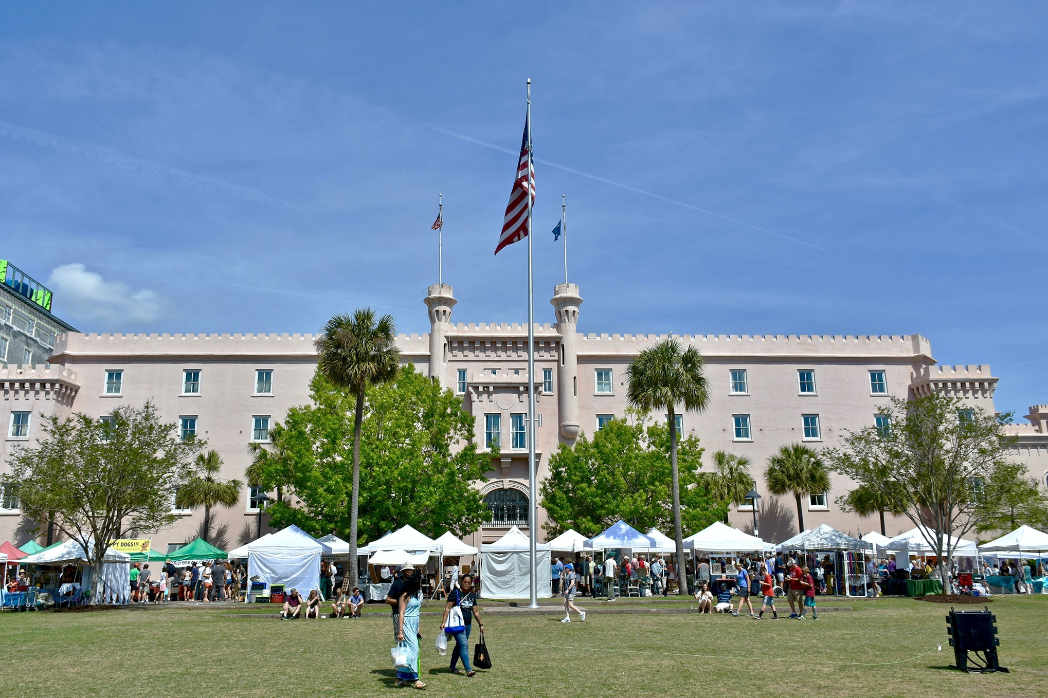 The green heart of Marion Square is the site of the Saturday Farmers' Market.