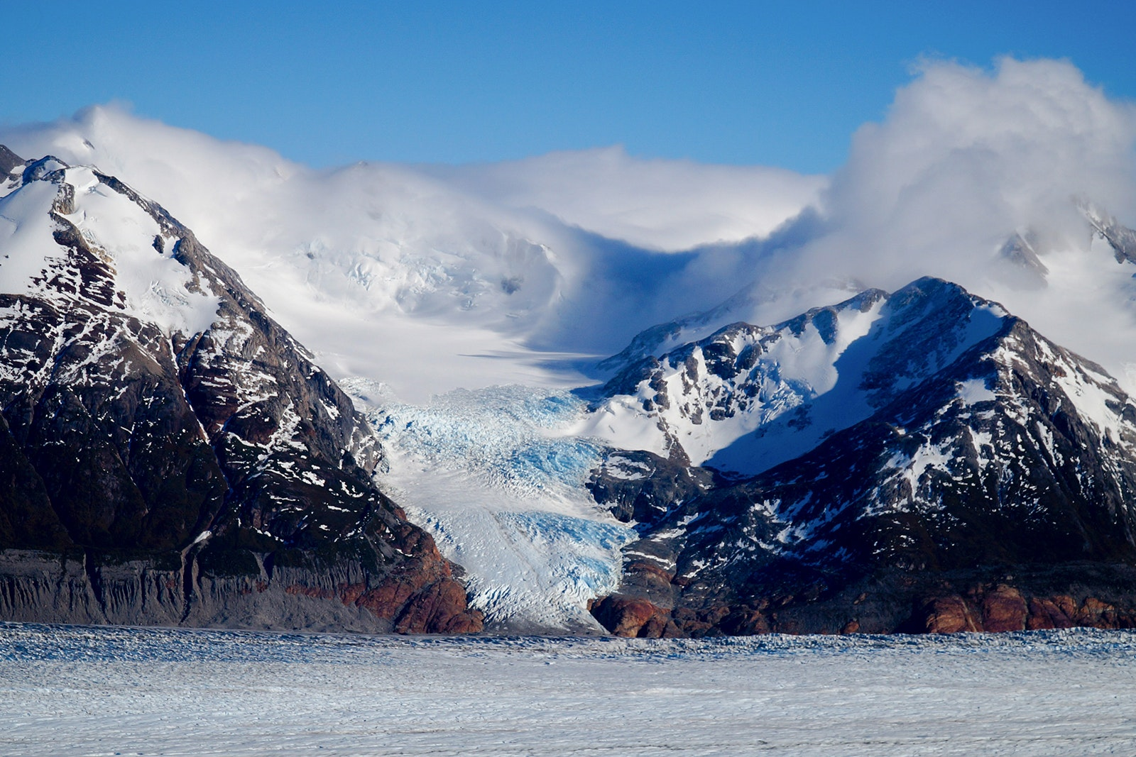 During the winter in Patagonia, you can ice hike on Grey Glacier.