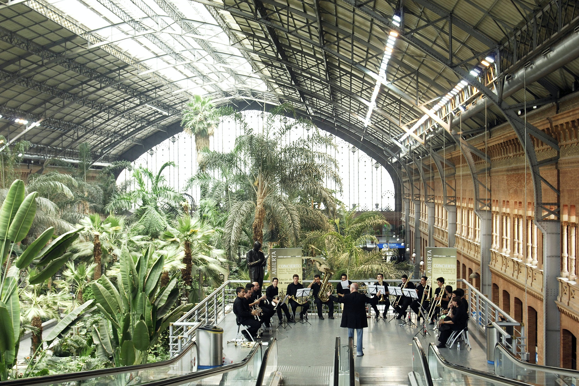 In the 1980s, Atocha train station's original building was transformed into a large atrium.