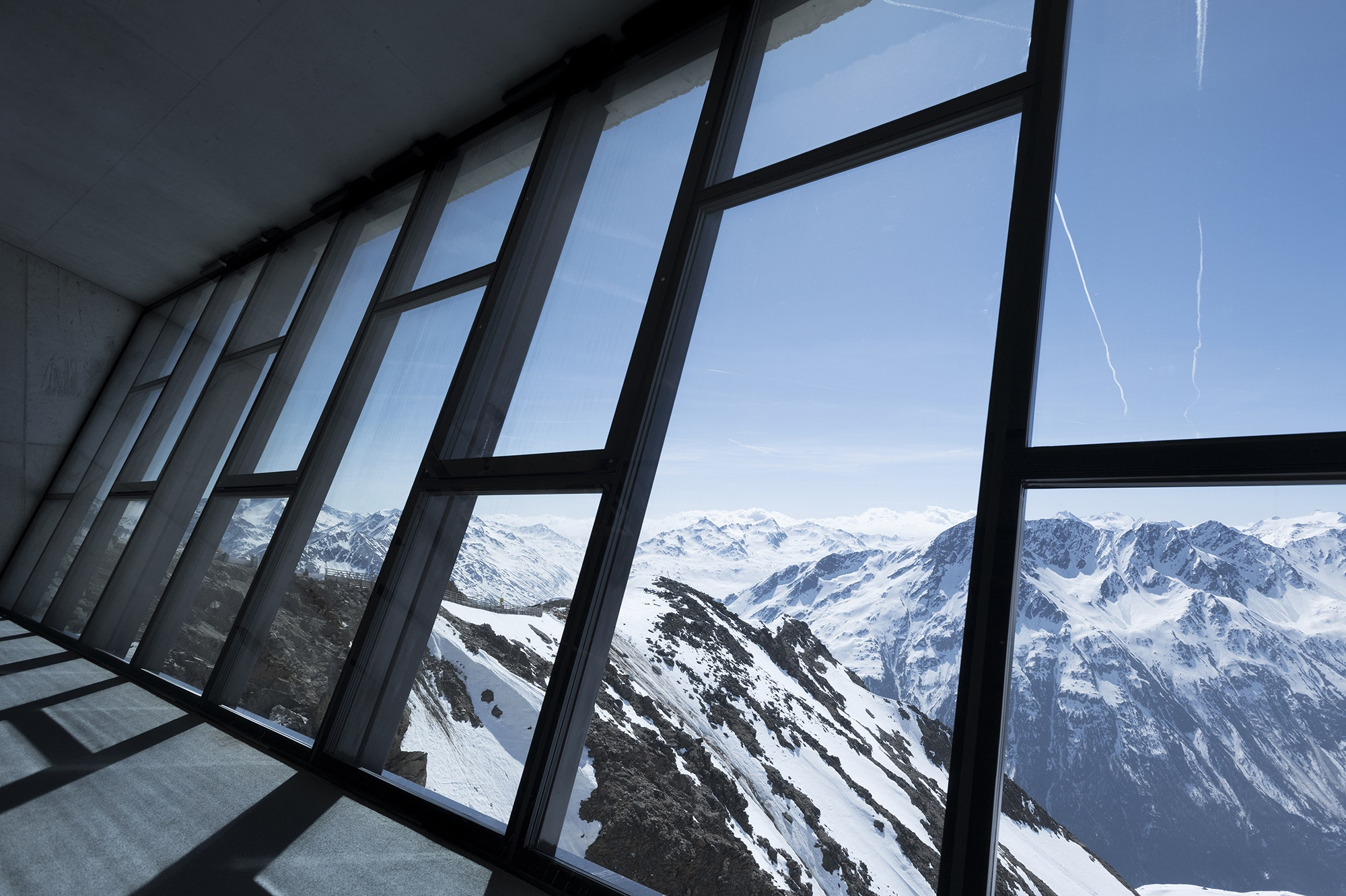 The view of the Austrian Alps from 007 ELEMENTS