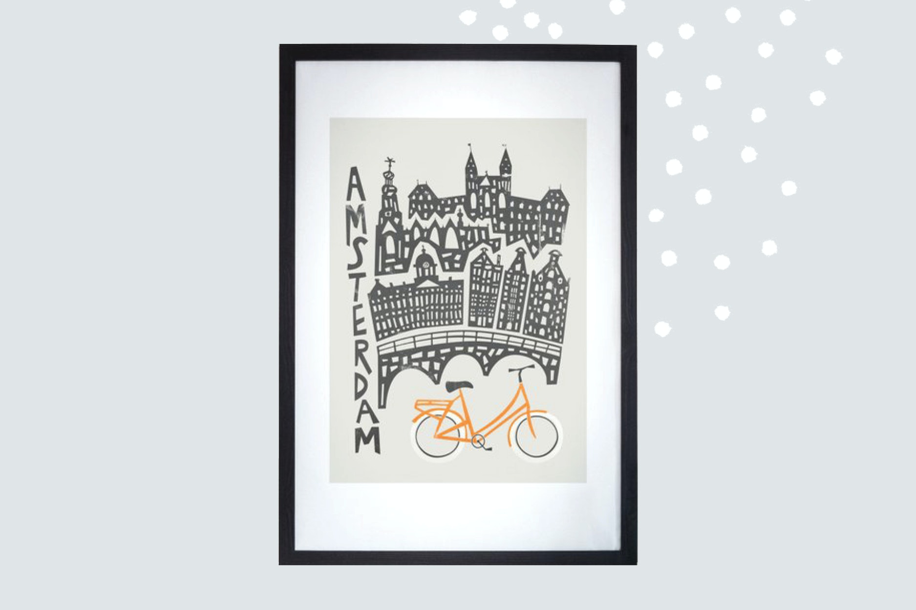 Decorate the walls with a favorite city design.