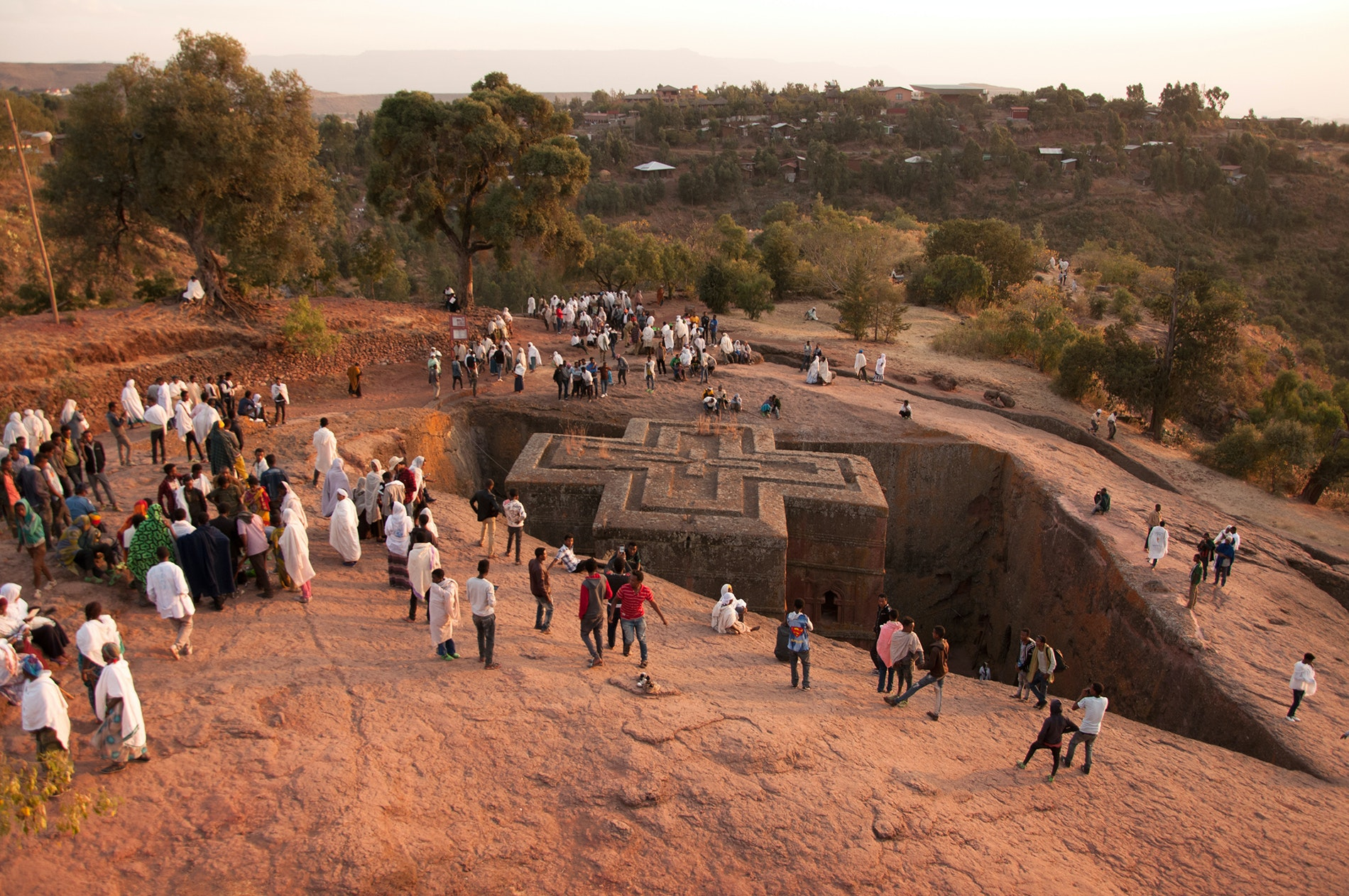 Lalibela is famous for its unusual rock-hewn, below-ground churches.