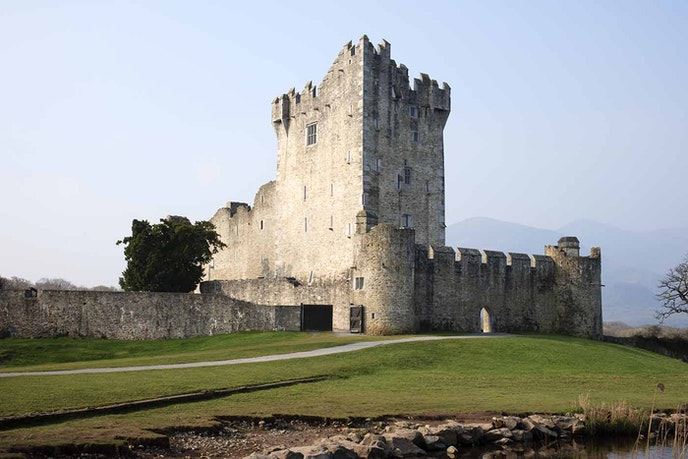 Ross Castle is a 15-century tower house in Killarney National Park.