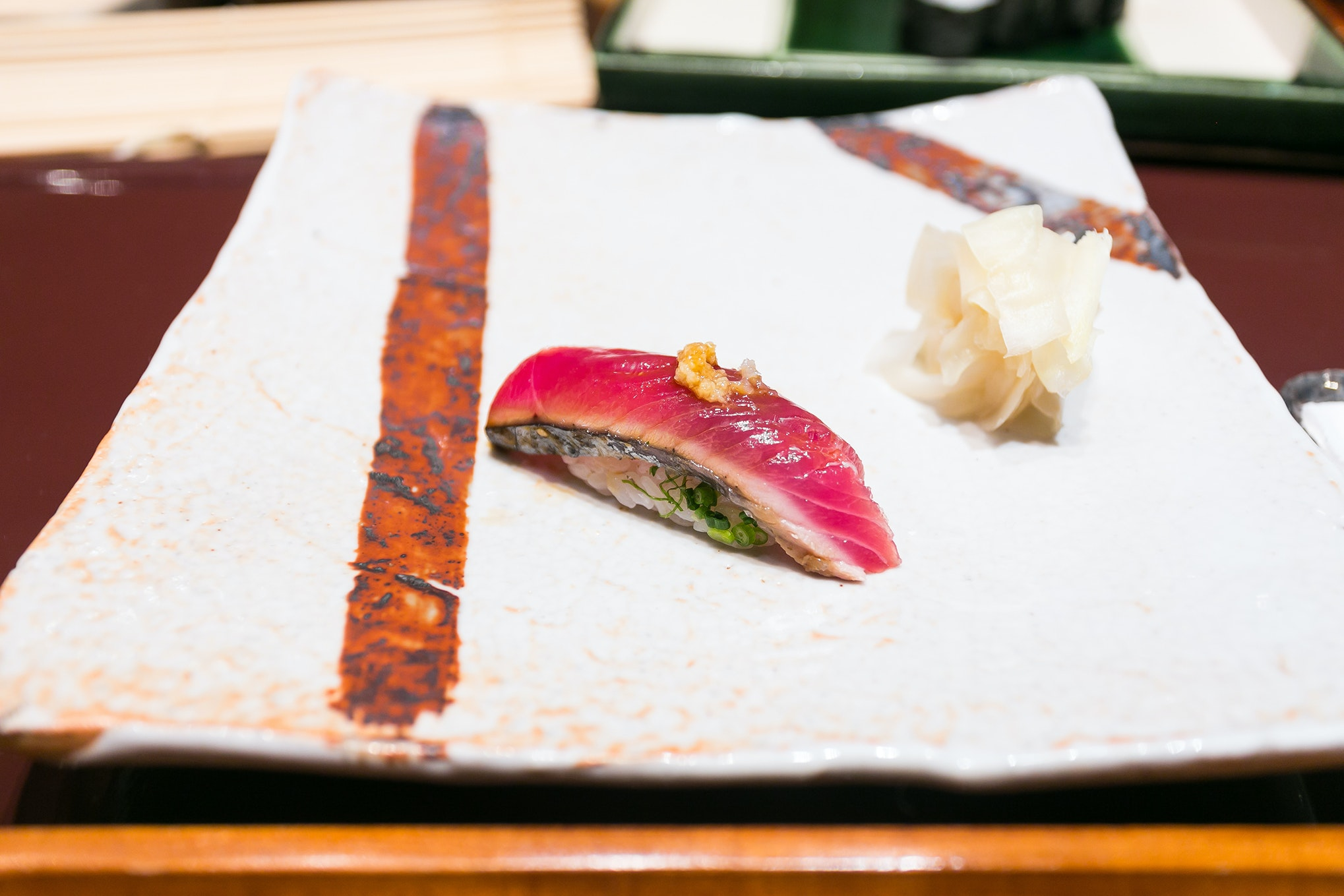"""Sushi may be Japan's most famous culinary export. In Tokyo, try it at the top-rated """"sushiya"""" Ginza Kyubey."""