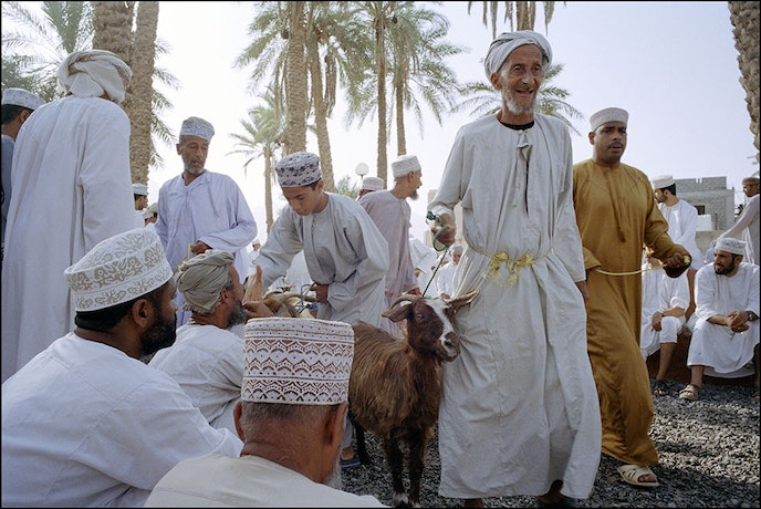 Visitors to Nizwa might catch a goat auction at the souk.