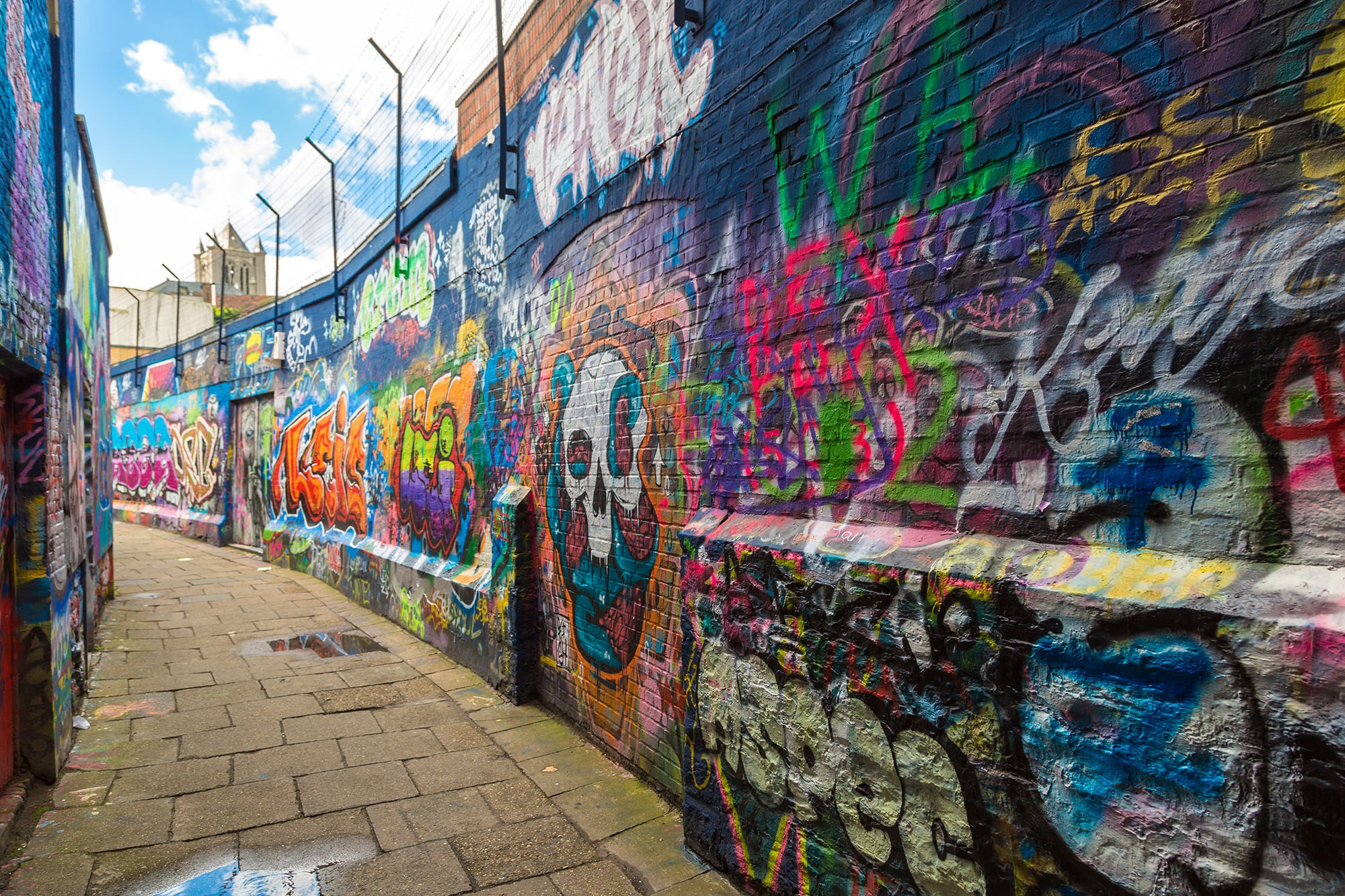 "Ghent's ""Graffiti Street"" is an ever-evolving corridor of color."