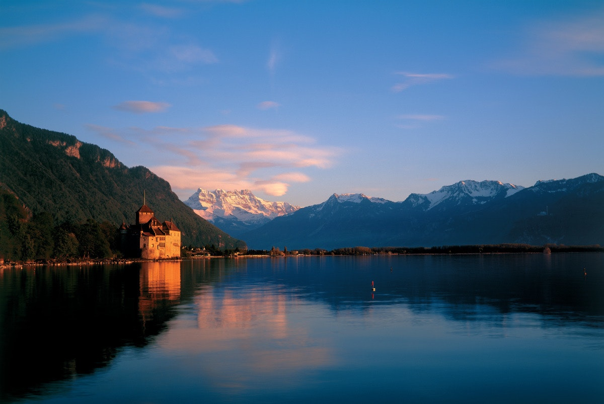 Chillon Castle has served as both a prison and a summer home for the Counts of Savoy.