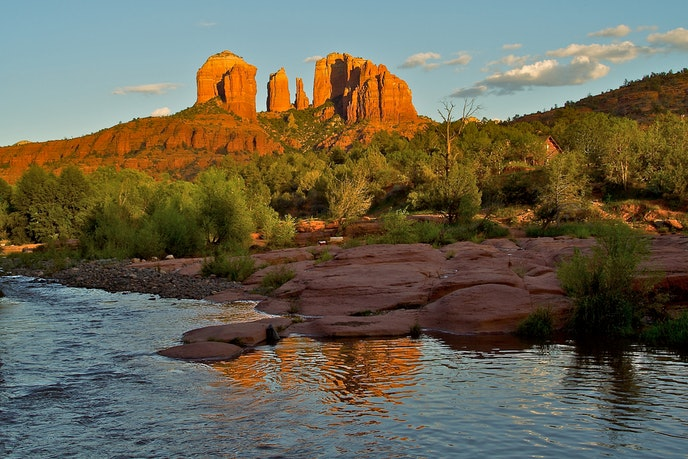If you hike the popular Cathedral Rock trail in summer, go early and stay hydrated.