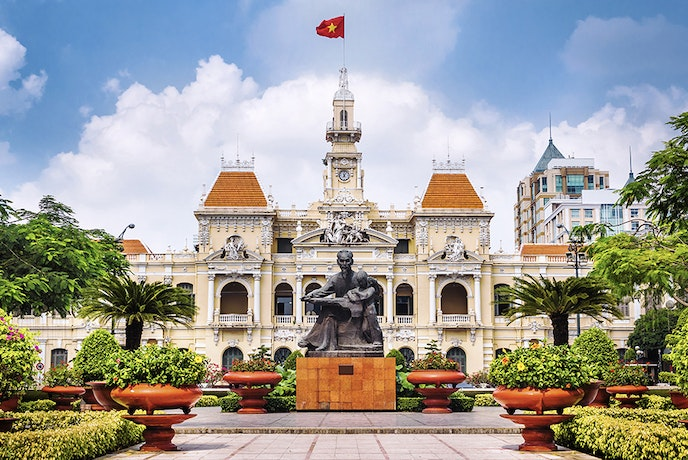 The Ho Chi Minh City People's Committee was built in the early 20th century during French colonial rule.