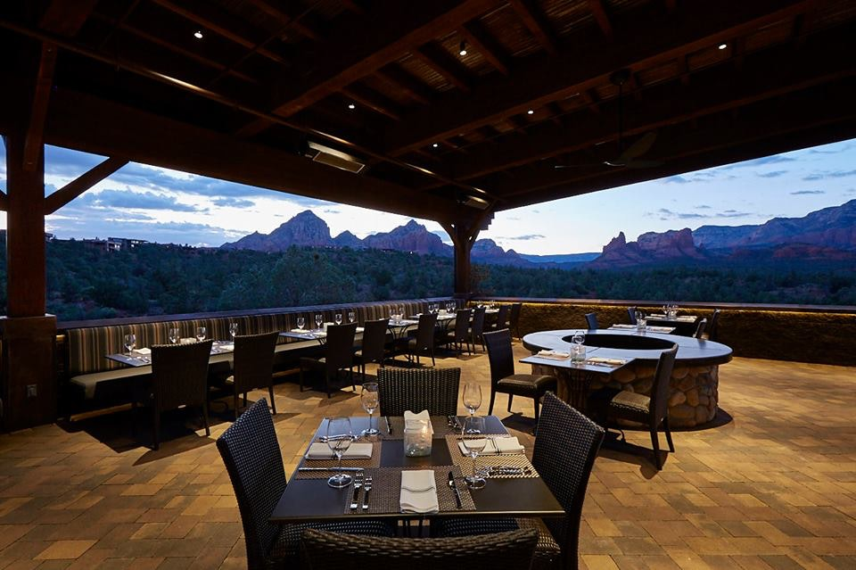 Dinner at Mariposa comes with a view of Sedona's Red Rock State Park.