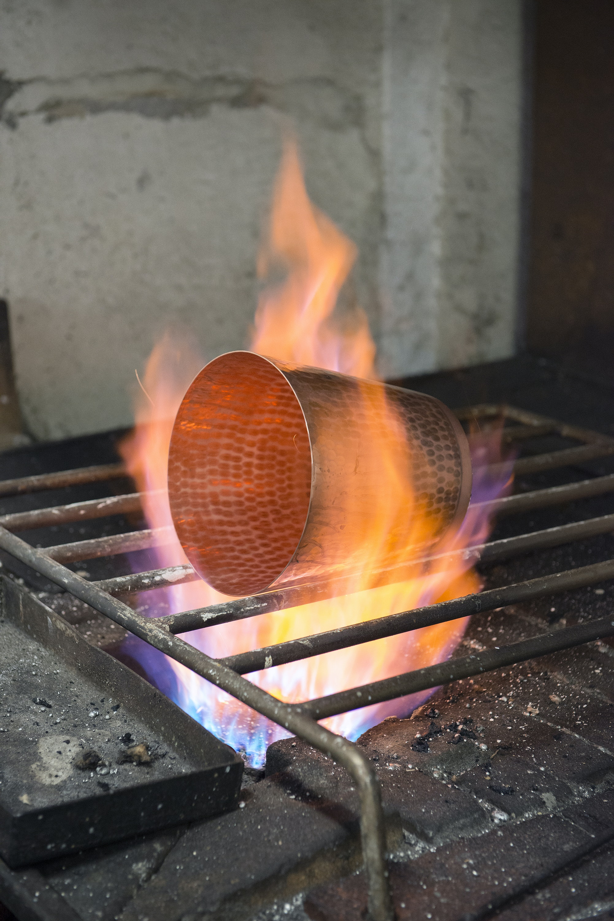 Creating Mauviel cookware is a fiery process.