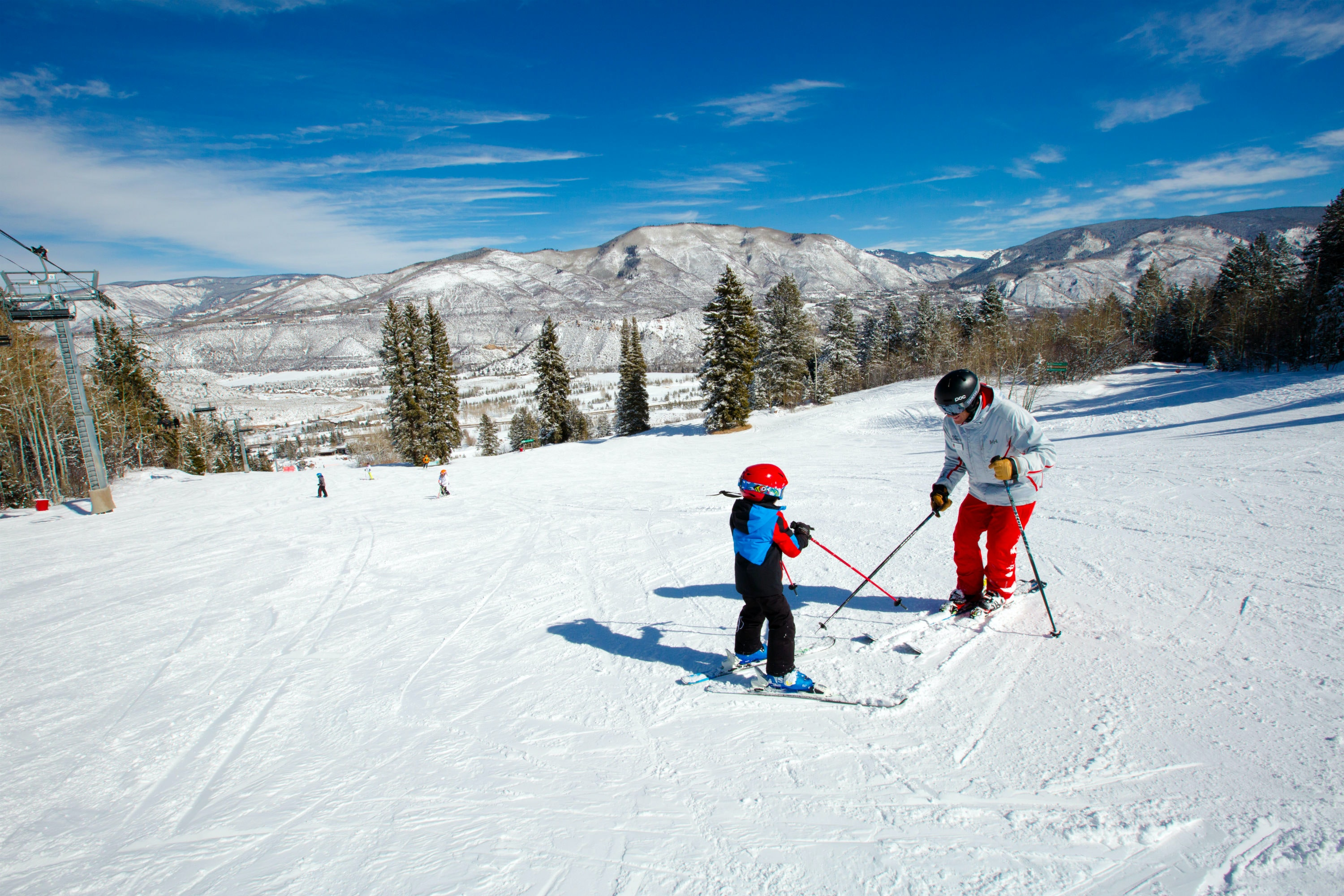 Full-day ski lessons for kids leave parents free to hit the black runs—or the hotel bars.