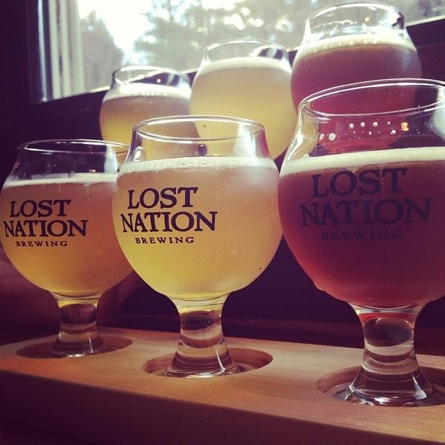 Lost Nation Brewing's cozy, rustic taproom and restaurant serves a delightful variety of beers and a masterful menu from chef Erik Larson.