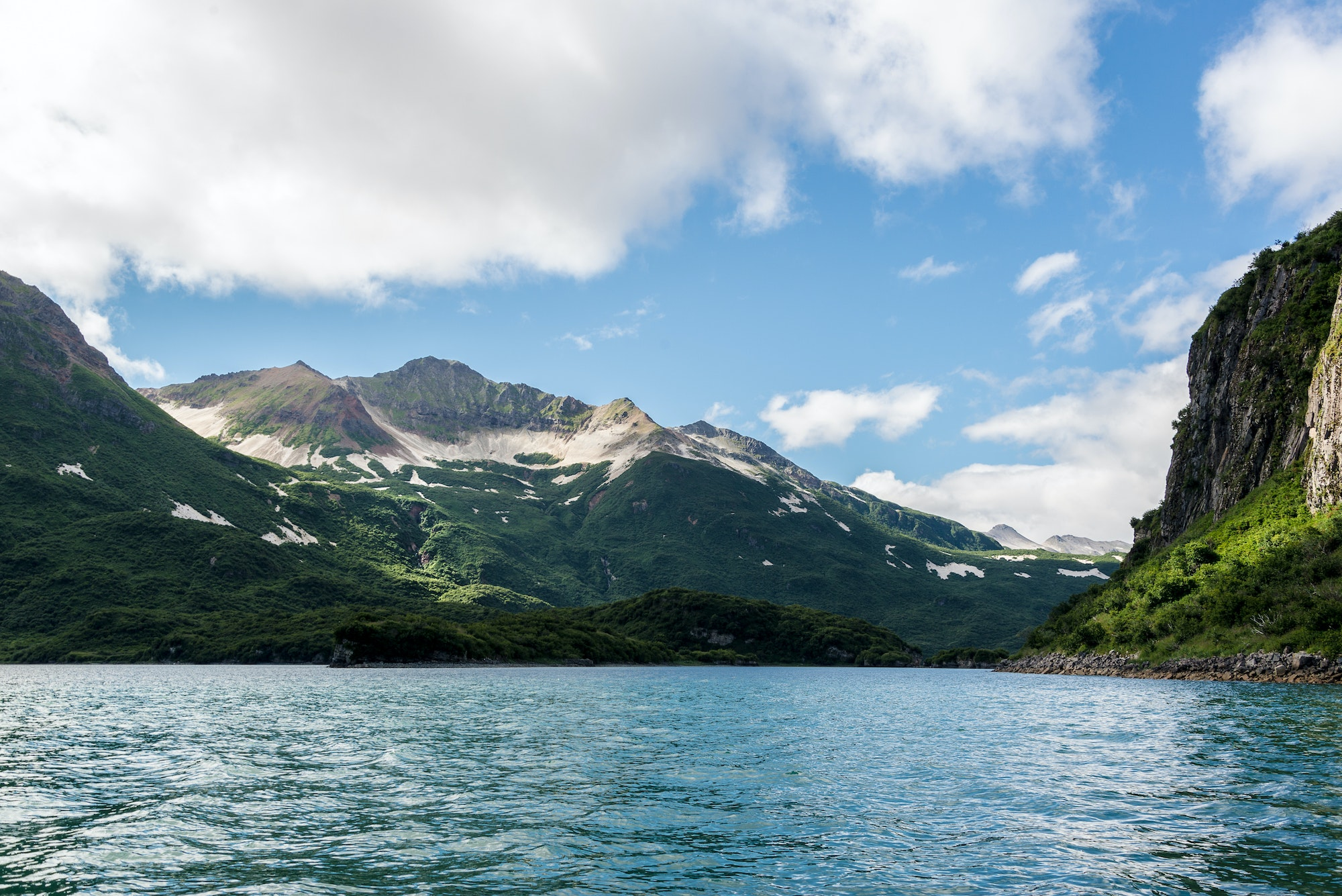 Located in southern Alaska, Katmai National Park is famous for its Alaskan grizzly bear population.